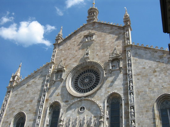 Como, Italien: Duomo dettaglio
