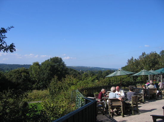 Three Pigeons Inn : View from one of the terraces over the Vale of Clwyd