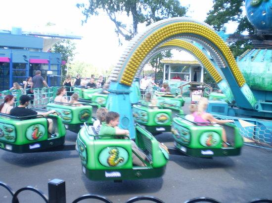 Linnanmaki Amusement Park : The Mustekala ride at Linnanmäki