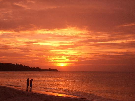 Coyaba Beach Resort: sunset on the hotel beach
