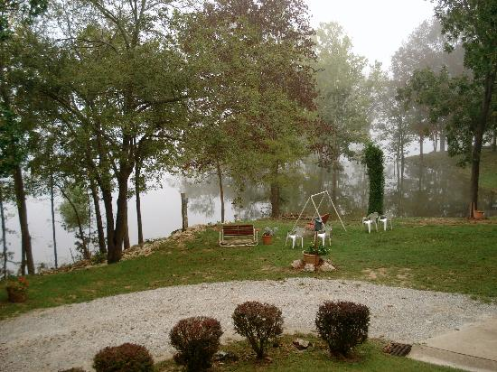 Red Bud Cove Bed and Breakfast Suites: Morning view of the lake from my balcony.