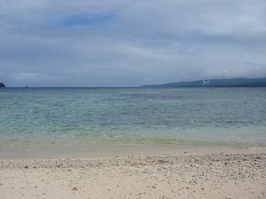 Qamea Island, Fiji: beautiful, but you can see where the coral begins - this is between low and high tides.