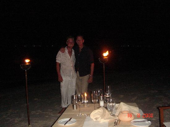 Baros Maldives: The private dinner WOW!!