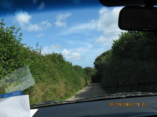 St. Mawes Castle: Finally, blue sky.  Love these roads.