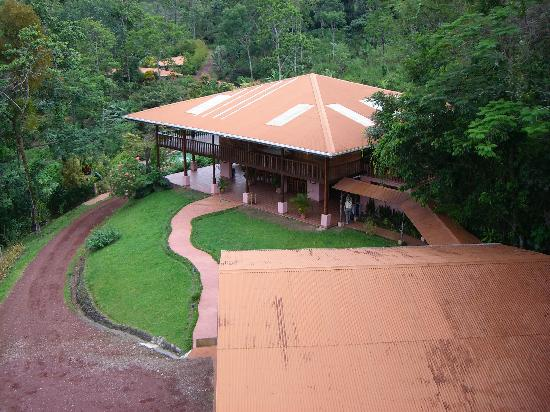Finca Luna Nueva Lodge: The view of the main lodge from the observation tower