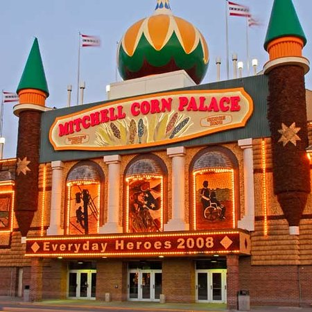 Южная Дакота: Corn Palace in Mitchell, South Dakota