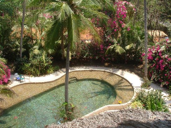 Villas del Palmar: View of pool from upper unit