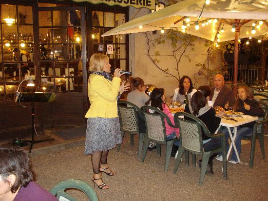 Relais de la Salamandre : Entertainment in the evening