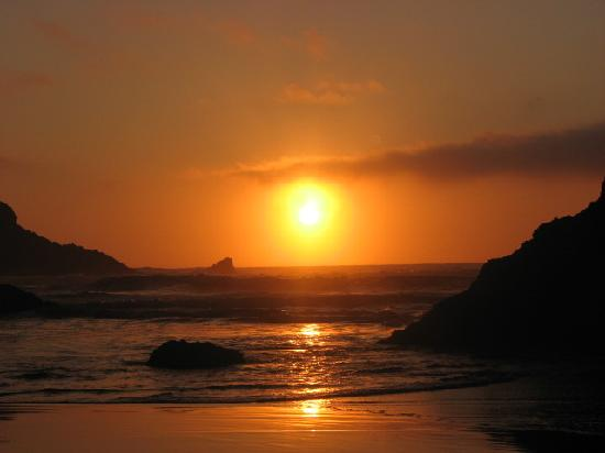 Yachats, Oregón: Sun Set- Oregon Coast