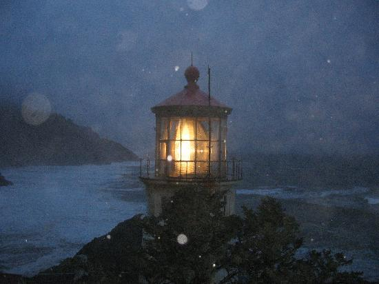 Florence, OR: Heceta Head on a Stormy Night!!