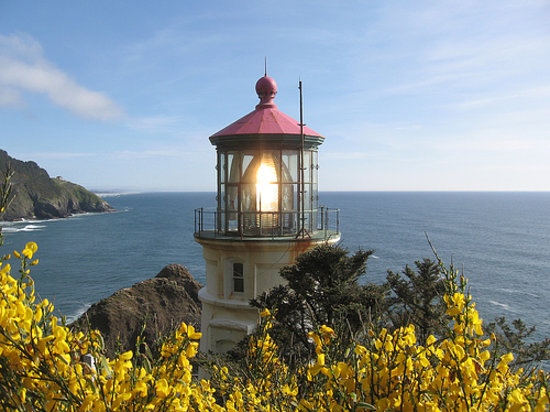 Florence, Oregón: Heceta Head Light House- Spring