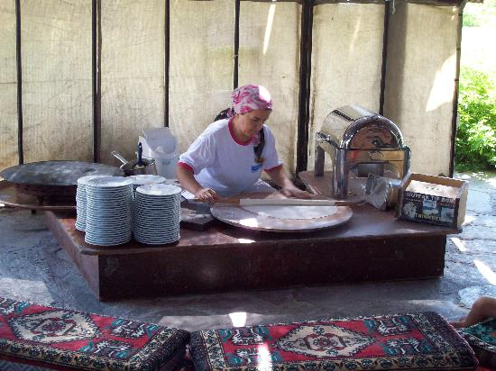 Liberty Hotels Lara: hut making specialty bread.