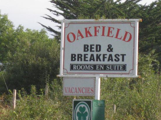 Oakfield Bed and Breakfast : Oakfield