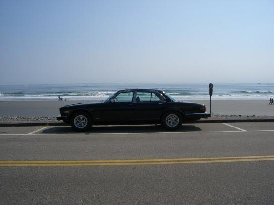 Inn at Tanglewood Hall: My car parked down on the beach, just down the road from the Inn