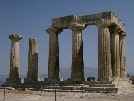 Corinth, Greece: Temple of Apollo