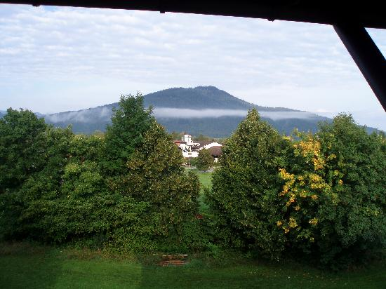 Chiemgauer Hof: Early morning mist - view from bedroom