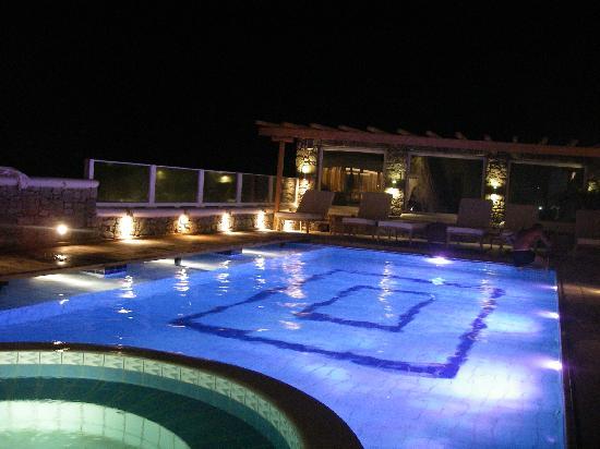 piscina de noche picture of damianos hotel mykonos town