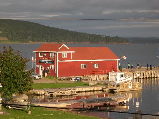Water's Edge Inn: View from the Balcony toward harbor