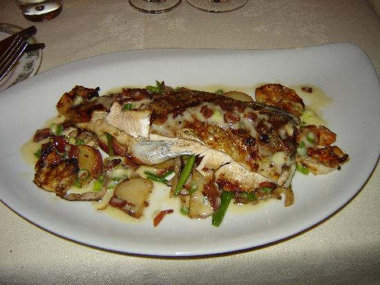 The Ivy Inn Restaurant : Ivy Inn Ragged Mountain Trout with Roasted Shrimp and Fingerling Potato Hash