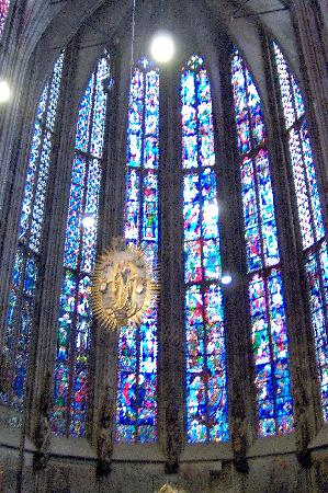 Stained glass in the Aachen Cathedral