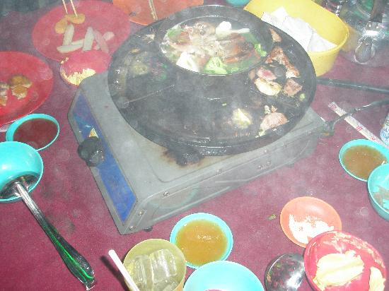 Hornbill Barbeque Steamboat: BBQ, steamboat with steam and smoke