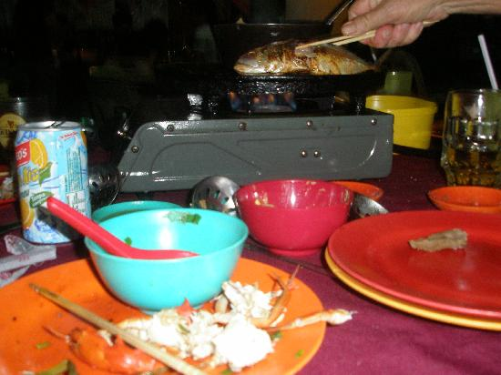 Hornbill Barbeque Steamboat: A whole small fish