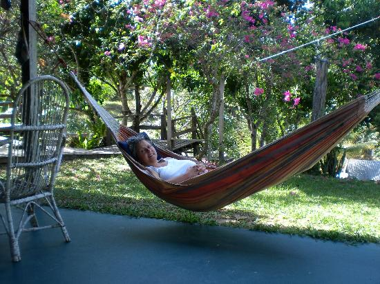 Treetops Lodge: Hanging out in the hammock