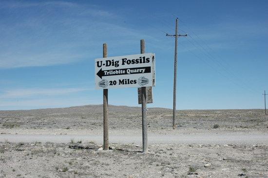 U-Dig Fossils: U-dig採石場の案内板