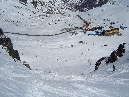 "Portillo, Chile: Looking down Garganta - one of the more challenging ""named"" runs"