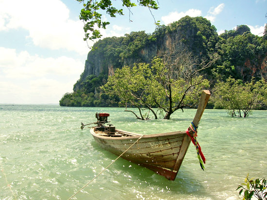 Krabi Town, Tayland: East Railey beach