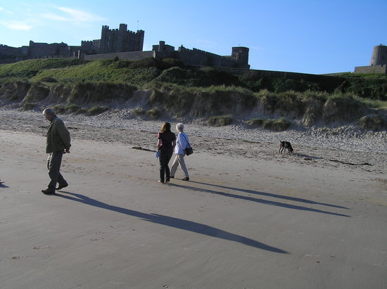 Bamburgh, UK: The castle adds drama to the natural beauty.