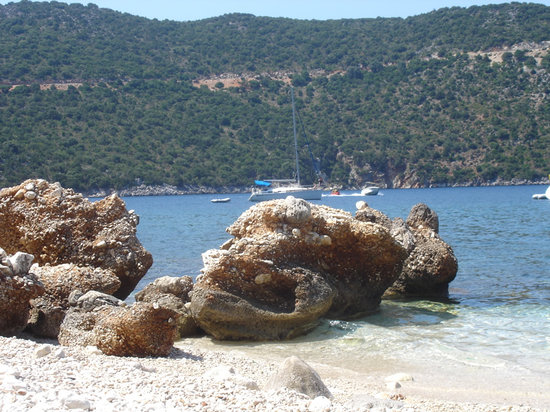 Kefalonia, Griechenland: spiaggia di antisamos