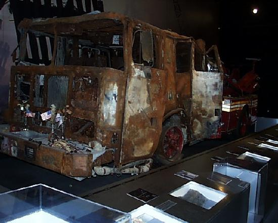 New York State Museum: A fire vehicle from the World Trade Center site