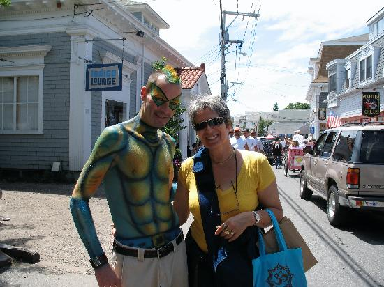 Provincetown, MA: With a painted friend