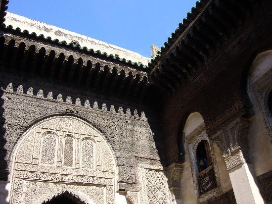 Andalusian Mosque: Medersa  Sahrij (on distingue un locataire)
