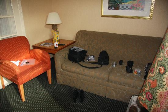 "Quality Suites San Diego SeaWorld Area : Sleeper Sofa in ""main"" room"