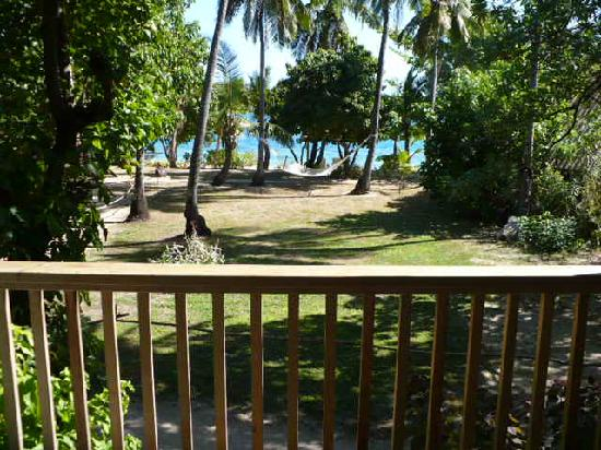 Malolo Island Resort: View from family bure deck.