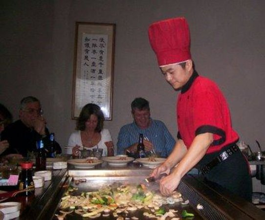 Hamada of Japan: Our chef cooking a great meat!