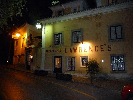 Lawrence's Hotel: The front of the hotel