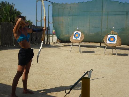 Iberostar Mehari Djerba: Tir à l'arc avec Chicho :)