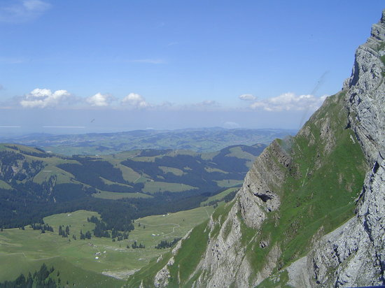 Canton of Appenzell, Switzerland: Aussicht Richtung Bodensee