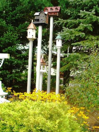 Phineas Swann Bed and Breakfast Inn: some of the many birdhouses at Phineas-Swann