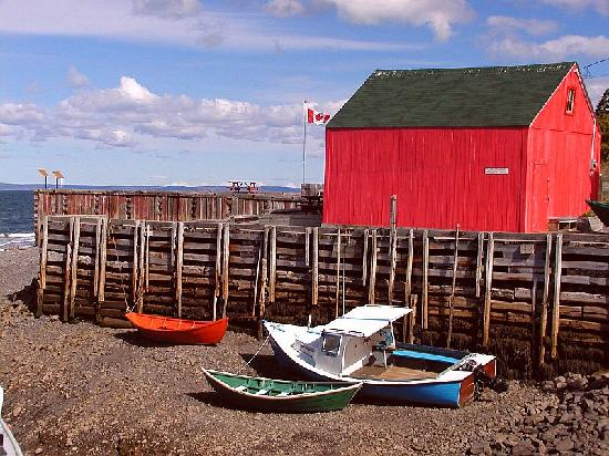 Red Shed at Hall's Harbour