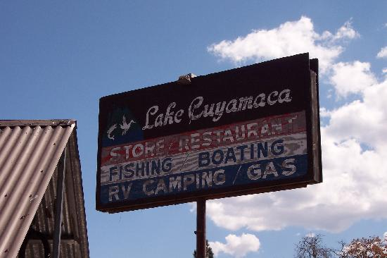 Lake Cuyamaca Sign