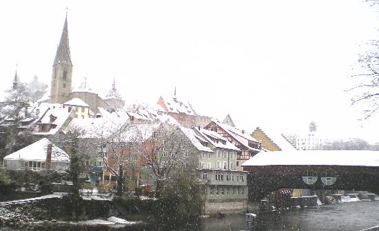 Baden Youth Hostel: Baden in the snow