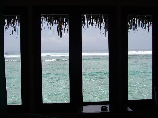 Cinnamon Dhonveli Maldives : la vue de notre fenêtre de chambre ! merveilleux !