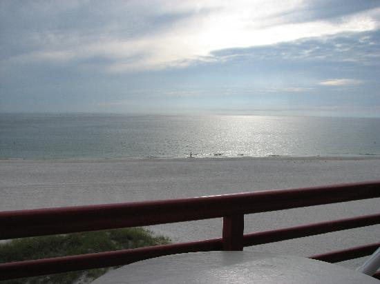 Crimson on the Gulf: View from the balcony