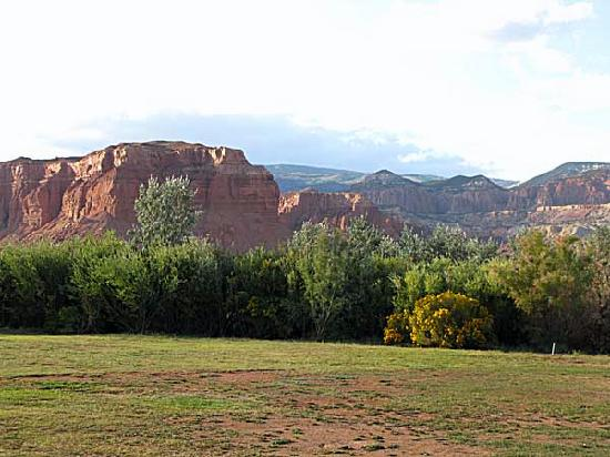Capitol Reef Resort: View from the back of the motel