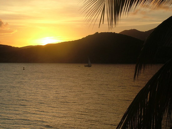 Sunset over the Bay at St. Thomas