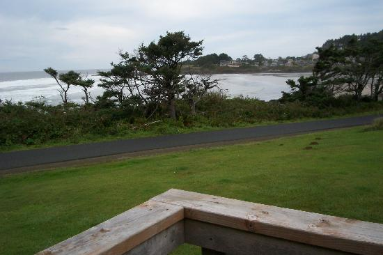 The Yachats Inn: From the deck - North Front suite.
